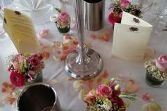 15 Glassfüllungen 5 armigen Kerzenständer